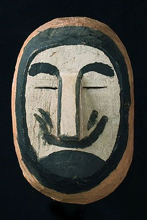 White Man Mask. Wichi people, Northern Argentina.