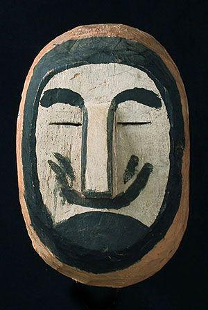 White Man Mask. Wichi people, Northern Argentina.