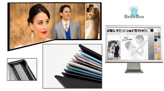 """Are you looking for a professional photo album, but want to stay within your budget? BrideBox may be your answer! These are Professional Wedding Albums for the do it yourself modern bride. Their """"Design it yourself"""" wedding album is an amazin"""