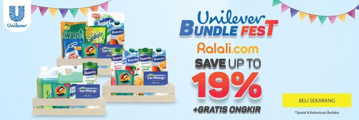 Unilever Bundle Fest Diskon 19% Dengan Kode Voucher - PriceArea.com
