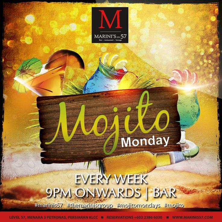 Inject a little bit of spice and life into your Monday tonight, with our Cuban beats and delectable mojitos. For the cocktail curious, ask our mixologists for your very own bespoke Mojito. Marini's on 57, Making your Mojito Mondays Memorable. Link: http://www.marinis57.com/about-us/italian-cuisine/ #marinis57 #themarinisgroup #tmgdiditfirst #mojitomondays #bestbarkl #amazingcocktailskl #klcc #kualalumpur #Malaysia