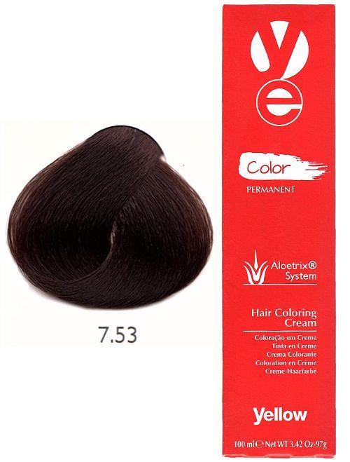 Alfaparf Yellow Hair Color Mahogany Golden Blonde 7.53