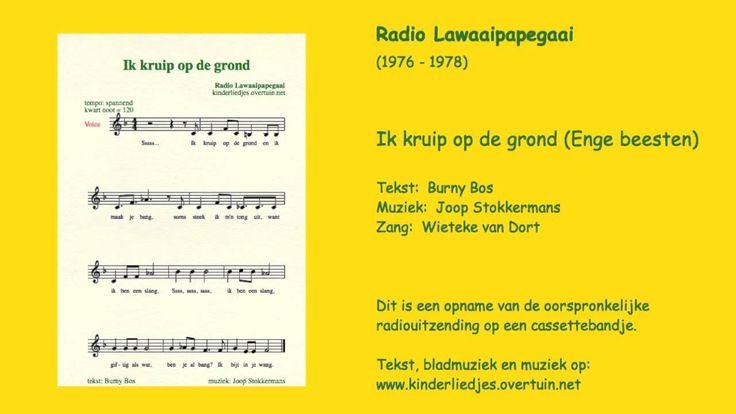 Kinderliedje: 'Enge beesten' (slang, wesp, spin, wurm) - Radio Lawaaipapegaai (1976-1978). Tekst: Burny Bos; muziek: Joop Stokkermans; zang: Wieteke van Dort...