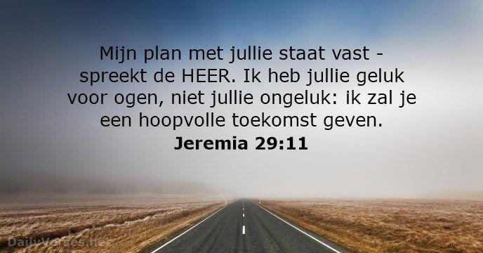 Jeremia 29:11 - dailyverses.net