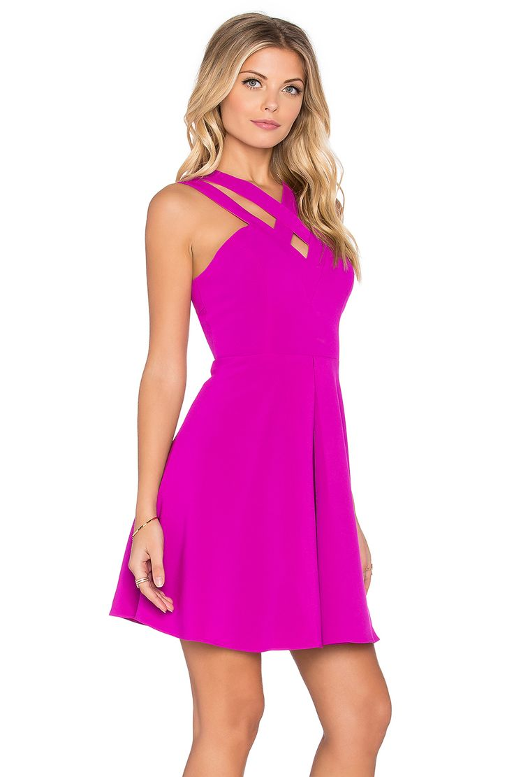 Lumier Wild At Heart Open Back Dress in Magenta