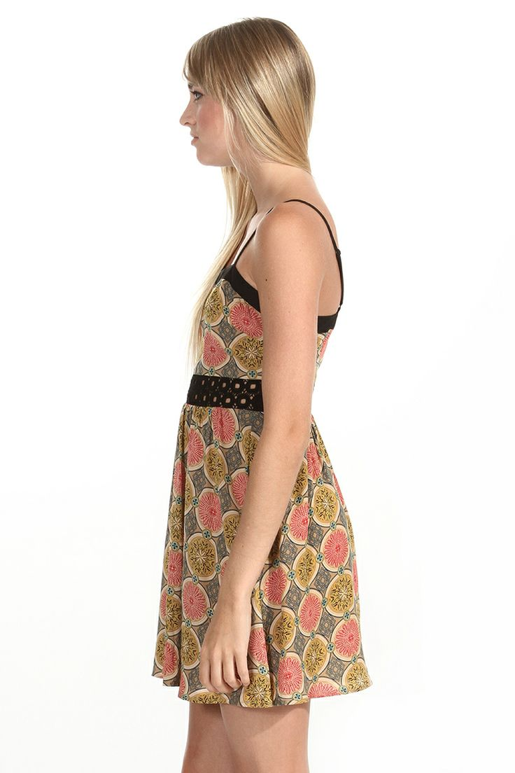 Harry and Zoe - Vintage Floral Print Dress With Thin Straps, $76.00 (http://www.harryandzoe.com/vintage-floral-print-dress-with-thin-straps/)
