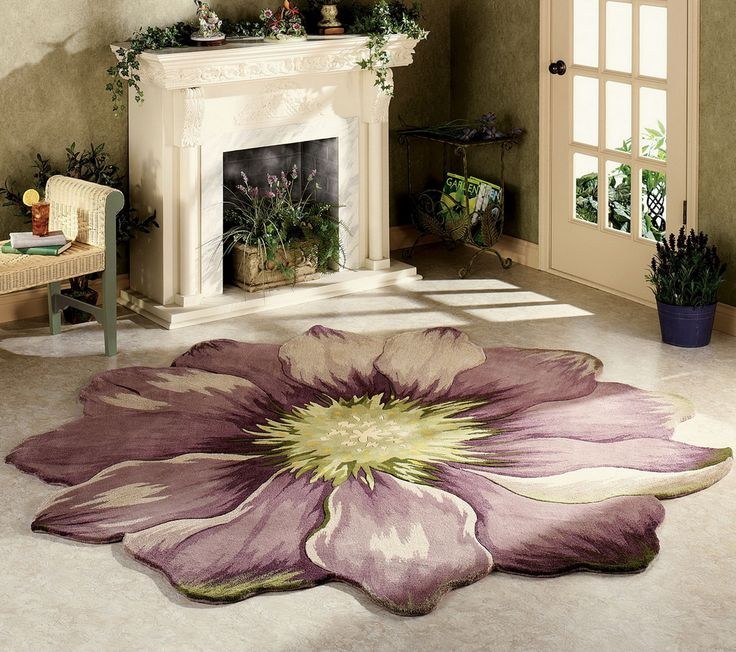 Round Area Rug Like A Flower