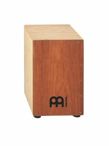 Meinl Percussion HCAJ3MH-M Headliner Cajon Frontplate: Mahogany, 11 3/4 W x 19 3/4 Inch H x 11 3/4 Inch D by Meinl Percussion. $149.99. The MEINL Headliner Series Cajons deliver the classic cajon sound at an affordable price and can be used in Flamenco or World Music. They are also very useful during unplugged gigs for delivering the rhythmic foundation for a whole band when a full drum set can't be used.