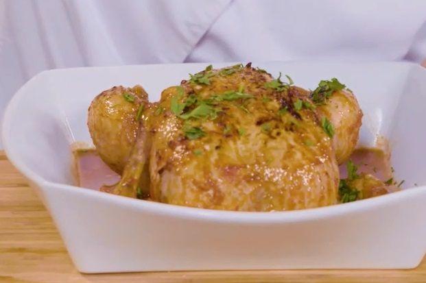 طريقة عمل دجاج اليوم المحشي بالرز في الفرن طريقة Recipe Food Chicken Turkey