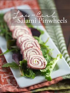 Salami & Cream Cheese Pinwheels {Primal, Low-Carb & Keto} - Health Starts in the Kitchen