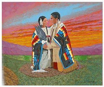 Cherokee Couple Married Wedding Belles American