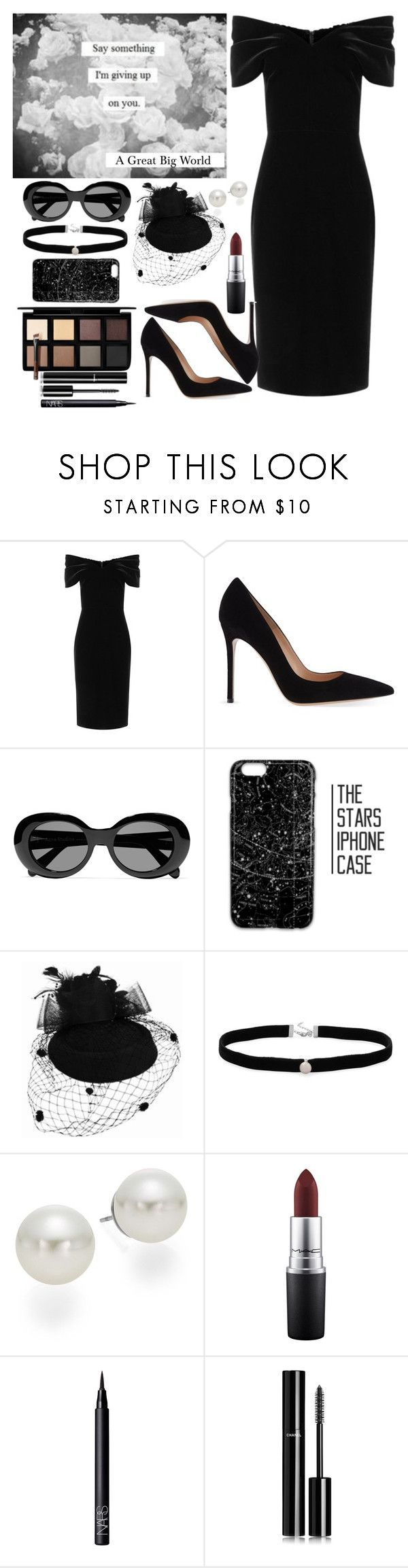 """Say Something - Funeral Wear"" by allyssister ❤ liked on Polyvore featuring Emilio De La Morena, Gianvito Rossi, Acne Studios, Amanda Rose Collection, AK Anne Klein, MAC Cosmetics, NARS Cosmetics, Chanel and Down to Earth"