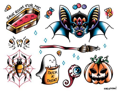 Best 25+ Halloween tattoo flash ideas on Pinterest | Flash ...