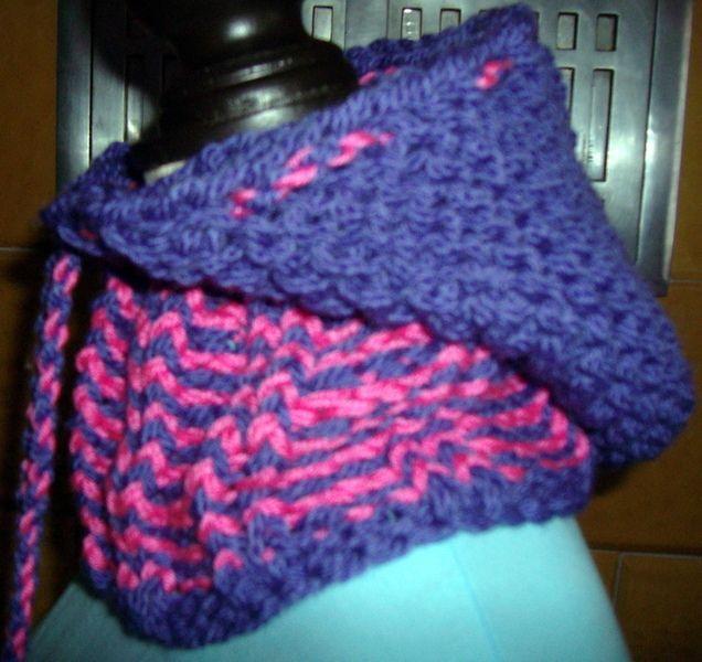 Schals - Kapuzen-Schlauch-Schal für Kinder,lila - ein Designerstück von Majoni bei DaWanda