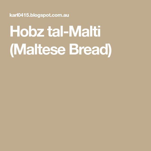 Hobz tal-Malti (Maltese Bread)