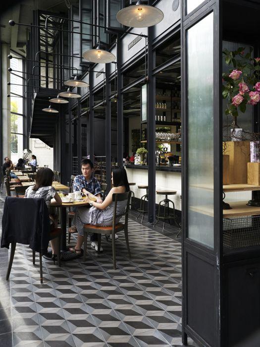 Cafe in kuala lumpur, look at the tiles! From Marjon Hoogervorst