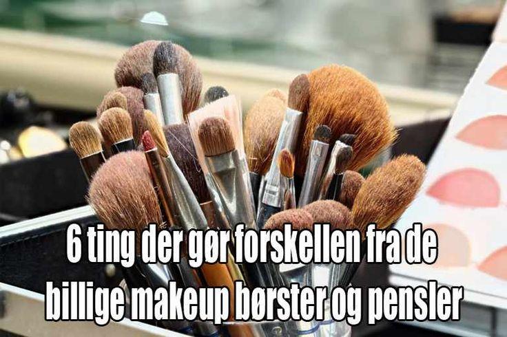 Find ud af hvorfor billige makeup børster og pensler er et dårligt køb - og se samtidigt hvilke børster du skal vælge uanset hvor stort dit budget er.  #makeup børster #makeup pensler