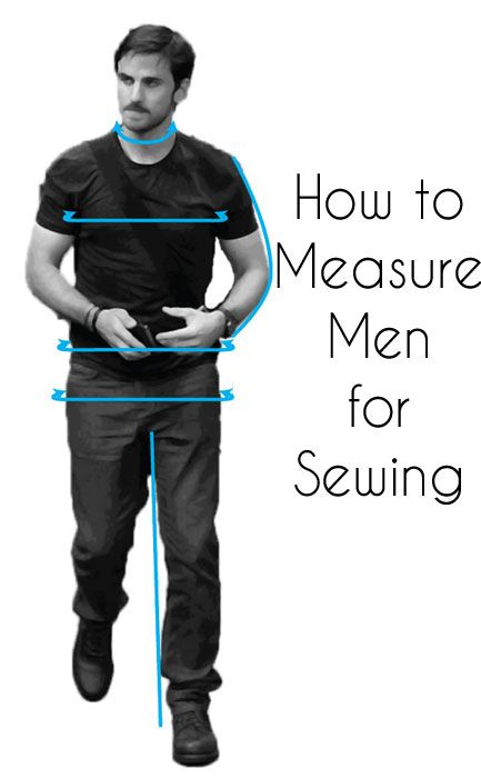 how to take mens measurements for sewing