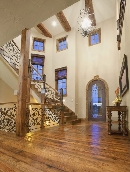 Mediterranean/ Tuscan Entry And Stairs