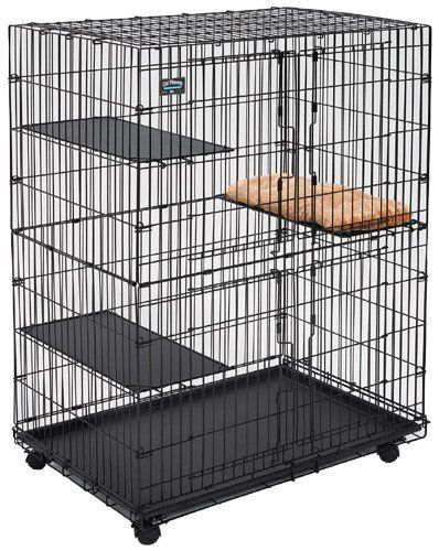 Cat Playpen / Cat Home MidWest Homes for Pets: COLLAPSIBLE! Line each panel on the inside with black plastic mesh (from Home Depot) and attach with zip ties. Make sure can still easily collapse for travel.