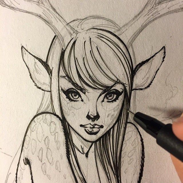 Art girl, sketc...