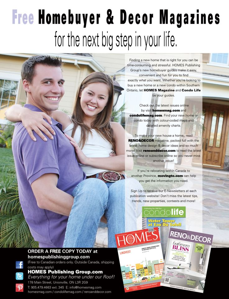 HOMES Publishing Group's ad in Today's Bride Magazine, 2014.