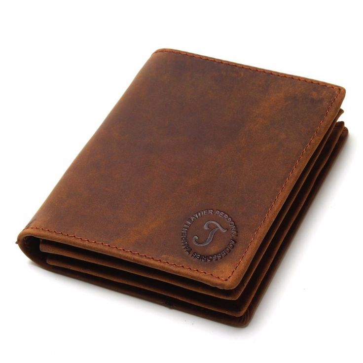 Multi-Functional Cowhide Leather Men Wallets  With Coin Purse //Price: $15.95 & FREE Shipping //