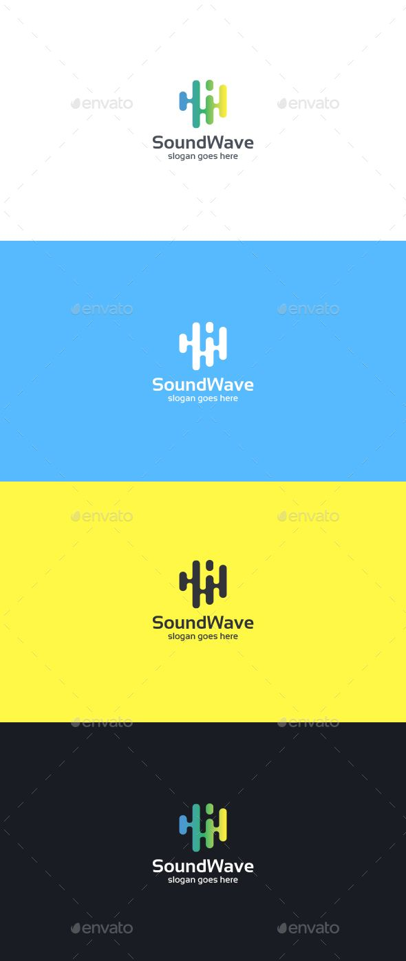 Sound Wave Logo Template — Vector EPS #art #wave • Available here → https://graphicriver.net/item/sound-wave-logo-template/15490203?ref=pxcr