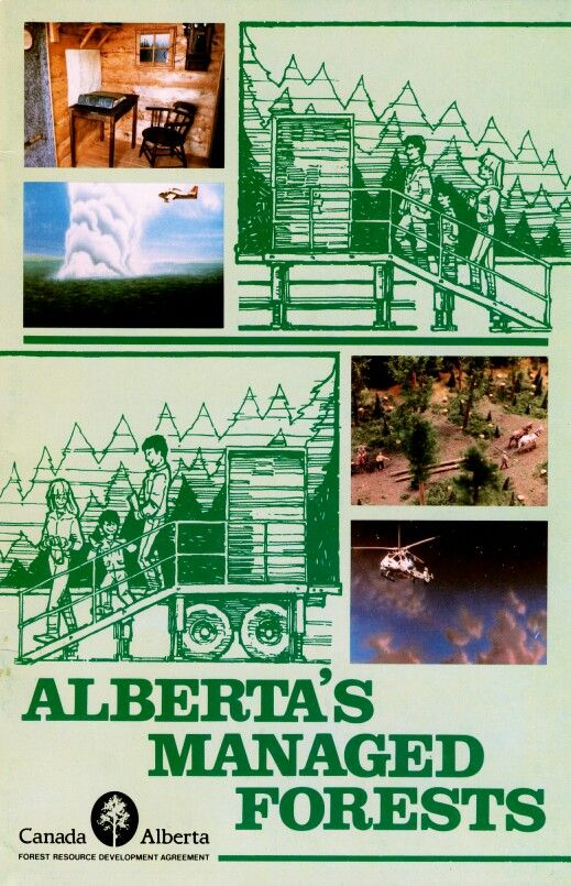 Info booklet designed for the Alberta Forest Service in 1986.
