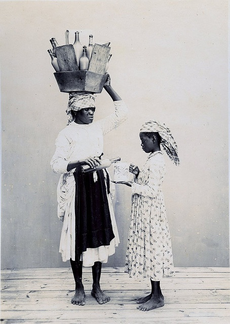 Milk Sellers, Pointe-a-Pitre, Guadeloupe by The Caribbean Photo Archive, via Flickr