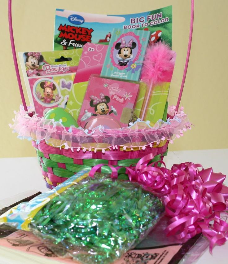 26 best minnie mouse images on pinterest postres creative gifts little girl minnie mouse easter basket kit stuffers negle Choice Image