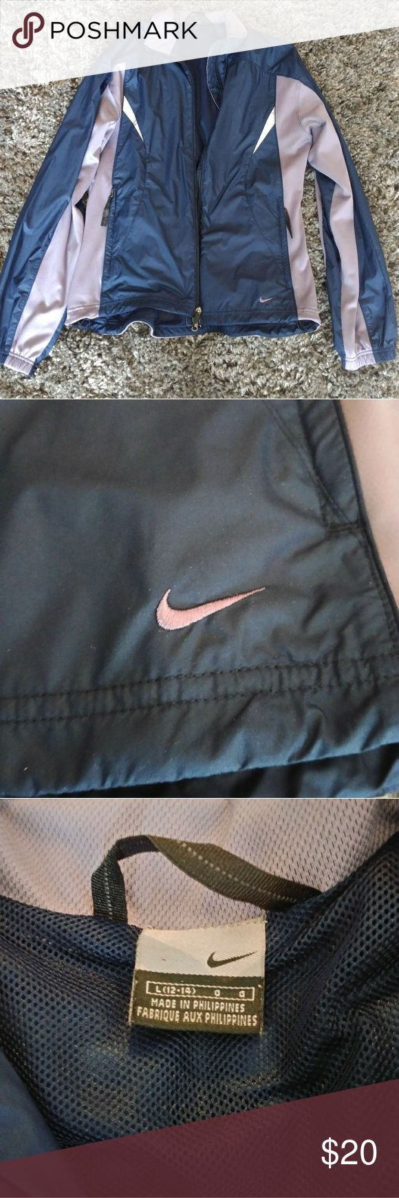 Women's Nike jacket Lavender and blue women's Nike jacket size large 12-14 in great condition flawless Nike Jackets & Coats