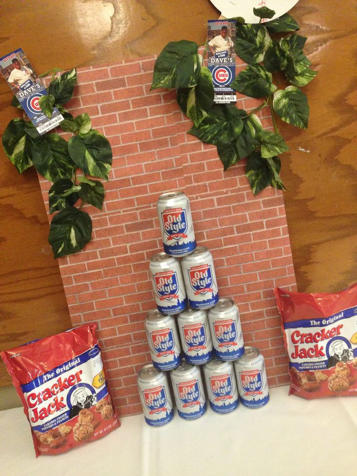 Chicago cubs themed birthday party decoration made a