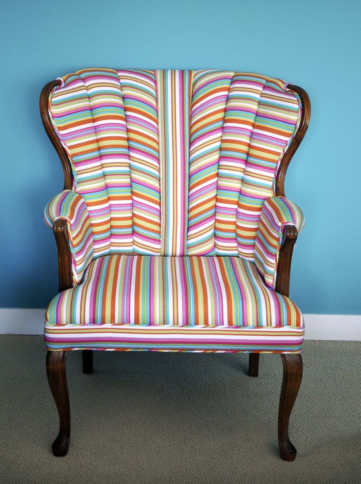 candy stripe upholstered chair oh what an interesting take on changing up