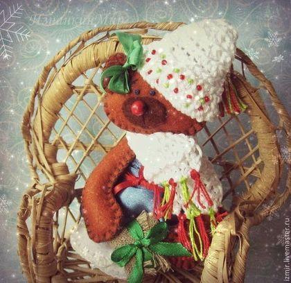 Снежок! Я жду тебя с подарком :-) Блокнот ручной работы Новый Год www.livemaster.ru/izmir