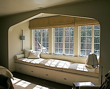 Window seats: Idea, Favorite Places, Cozy Nook, Dream House, Windowseats, Master Bedroom, Window Seats