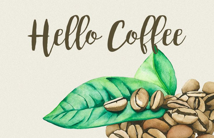 Watercolor Coffee Bean by andypray on @creativemarket