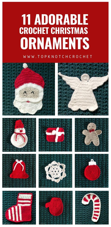Christmas Ornaments Roundup Plus A Wall Hanging Free Pattern Topknotch Christmas Crochet Crochet Wall Hangings Christmas Crochet Patterns
