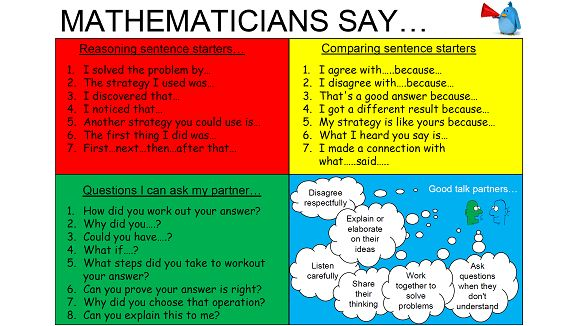 A talking mat to encourage reasoning in maths lessons through oracy. The mat features a range of sentence stems to guide children.