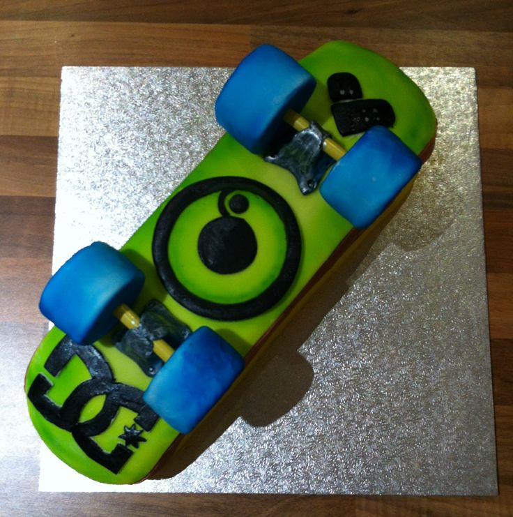how to make a skateboard birthday cake
