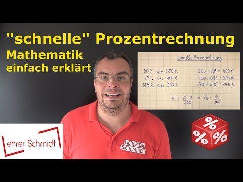 Dreisatz - Prozentsatz berechnen | Prozentrechnung | Mathematik - YouTube