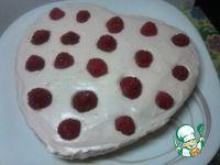 Простой тортик малина со сливками <i></div><b>ингредиенты:</b></i>