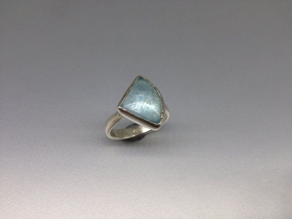 Natural Aquamarine with Sterling silver Ring by gemoryprague. #Jewelry Explore more products on http://gemoryprague.etsy.com