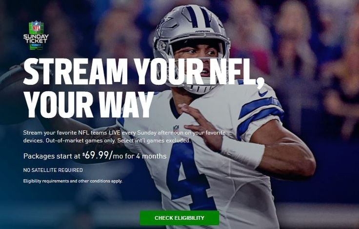 NFL Sunday Ticket isn't limited to those with DirecTV. Here's how to find out if you're eligible to get your Sunday football fix on your streaming device of choice.