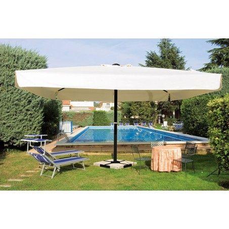 ROMA. Ombrellone da giardino con struttura in alluminio verniciato antracite dotato di un sistema di apertura. Disponibile in due diverse misure.