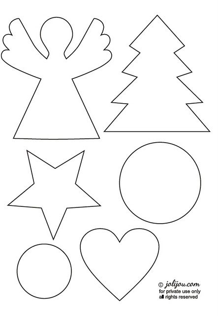 Christmas Crafting - Tutorial & Templates by Andrea Müller/jolijou