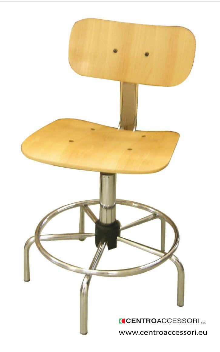 Sgabello faggio con spalliera. Wooden stool with espalier #CentroAccessori