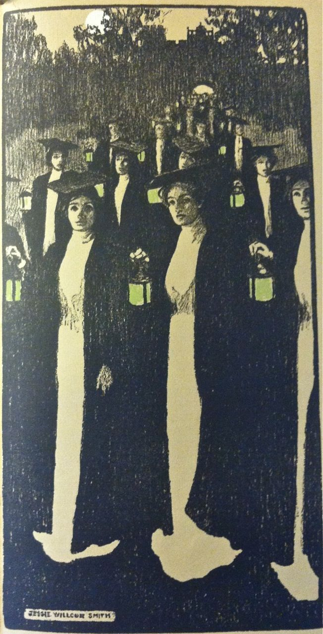 Bryn Mawr College Calendar for 1902 (Jessie Willcox Smith and Elizabeth Shippen Green, Ellen Wetheral Ahrens: one of the greatest rarities and stunning illustrations)