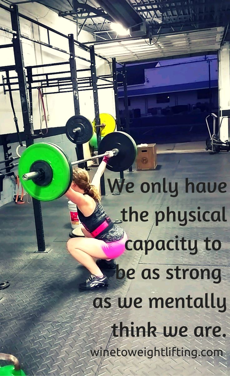 As much as lifting is obviously physical and a significant portion of the lifts do rely on proper form and technique, I think an even larger factor sometimes is the mental aspect.  We only have the physical capacity to be as strong as we mentally think we are.  #crossfit #motivation #inspiration