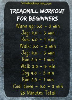Treadmill Workout for Beginners. This post includes great tips for running for beginners to be successful. Try adding running into your fitness routine.